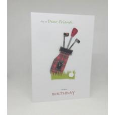 Golf Birthday Card for a Dear Friend
