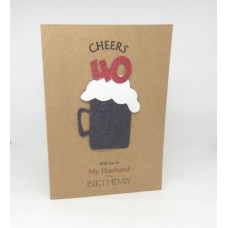 40th Black Beer Birthday Card for My Husband