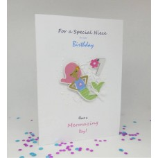 Mermaid 7th Birthday Card for a Special Niece