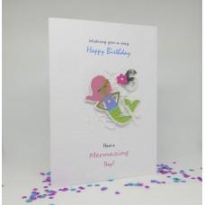 Mermaid Happy 6th Birthday card