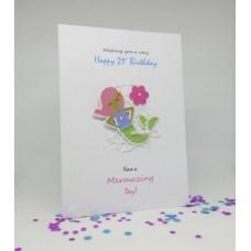 Mermaid Happy  21st Birthday card