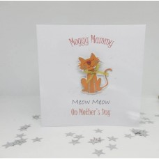 Mother's Day card for Moggy Mammy