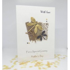 Mother's Day Card Vintage Dragonflies for Grammy