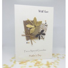 Mother's Day Card Vintage Dragonflies for Grandma