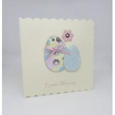 Easter Card Pastel Easter Eggs Easter Blessings