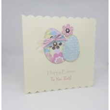 Easter Card Pastel Easter Eggs To You Both