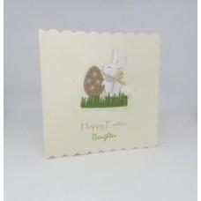 Easter Card Bunny with Kraft Egg Hoppy Easter Daughter