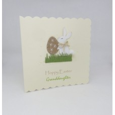 Easter Card Bunny with Kraft Egg Hoppy Easter Granddaughter