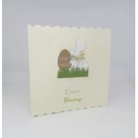Easter Card Bunny with Kraft Egg Easter Blessings