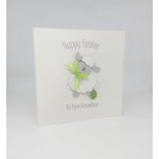 Easter Card with Cute Sheep To Ewe Grandson