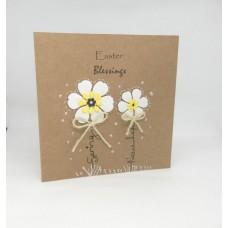 Easter Card Kraft Spring Blossoms