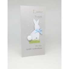 Easter Money Wallet Grey Bunny for Great-Grandson