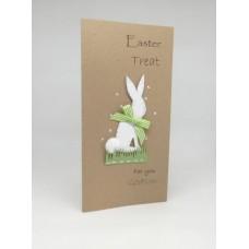Easter Money Wallet Kraft Bunny for Godson