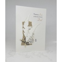 Large Feathers Card on the loss of your Dad