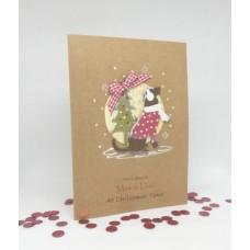 Hopeful Hound Christmas Card for Mam & Dad