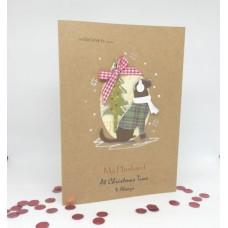 Hopeful Hound Christmas Card for My Husband