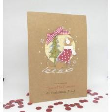 Hopeful Hound Christmas Card for Son & Fiancee