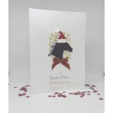 Glitter Horse Christmas Card for  Both of You