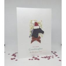 Glitter Horse Christmas Card for Granddaughter