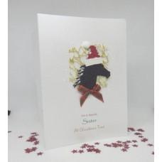 Glitter Horse Christmas Card for Sister