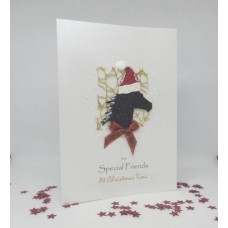 Glitter Horse Christmas Card for Special Friends