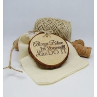 Natural Wooden Hanging Disc Believe in Yourself