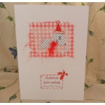 Handcrafted Christmas Card.  Christmas Grrr-eetings From/To The Dog(s). Spotty. Wording Options