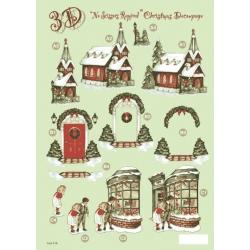 3D Die Cut Decoupage, Christmas Church & Traditional