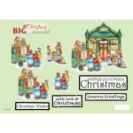 3D Decoupage Sheet. Die cut.  2 Sheet Pack. BIG Christmas Toy Shop & backing Paper