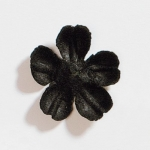 Thick Paper Flower Layers. BLOSSOM - Black. 28mm, Created from handmade papers