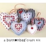 LITTLE BUTTON  HEARTS Sewing Kit.  Contains all you need to make beautiful Shabby Chic Hearts