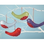 CHRISTMAS ROBINS Sewing Kit.  Contains all you need to make 4 Robins