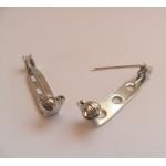 """Brooch Pins. Pack of 2.  25mm (1"""") SILVER Colour"""