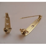 "Brooch Pins. Pack of 2.  30mm (1.25"") GOLD Colour"