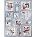 Die Cut Toppers & Elements A4, Cute Christmas Bears