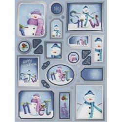 Cute Christmas Snowmen Creative Die-Cut Toppers, lots of elements