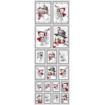 Die Cut Picture Sticker Sheet. Self adhesive. Cute Christmas Bears