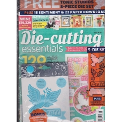Die Cutting Essentials Magazine 28 PEACE DOVE die set by Tonic