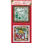 Die Cutting Essentials Magazine 30 Christmas Stained Glass Noel / Love