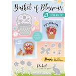 Die Cutting Essentials Magazine 34 21 piece Basket of Blossoms die set