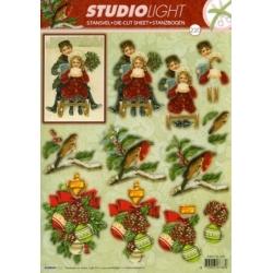 3D Die Cut Decoupage Sheet, Victoriana Christmas