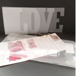 Large Word Book Template c/w Envelope Template to fit.  LOVE