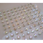 Pack 100 CRYSTAL / CLEAR Bling rhinestones faux gems. Self-adhesive. 3mm