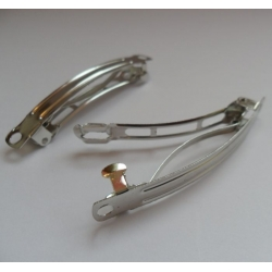 """Hair Slides/Barrettes. Pack of 2.  60mm (2.3"""") SILVER Colour"""