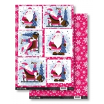 Santa Claus HO HO HO Die Cut Toppers & Backing Card Pack