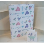 Gift Wrap Pack CHRISTENING Boy or girl or twins