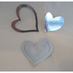 20 Small Nesting HEARTS. Diecut. SILVER