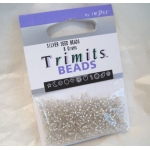 Seed Beads 8g SILVER, Trimits by Impex