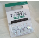 Pack of Cup Sequins 8mm WHITE Mother of pearl shimmer finish, 140pces