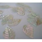 Mini Leaf Sequins TRANSPARENT Irridescent. Sew, Craft. Table Confetti